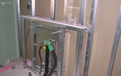 Unterkonstruktion mit Installationen