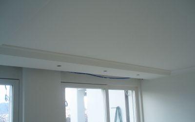 Stuckprofile als Vorhang-Kassette und Lampennische